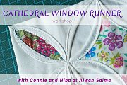 Cathedral Window Runner at Alwan Salma
