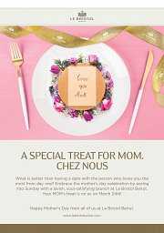 A Special Treat for Mom, Chez Nous!