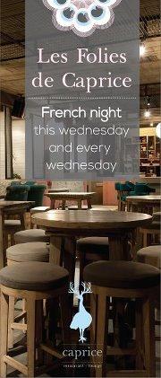 Les Folies de Caprice - French Night every Wednesday