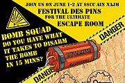 Bomb Squad Escape Room at Festival des Pins SSCC Ain Najm