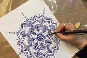 Mandala Drawing at Alwan Salma