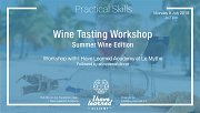 Wine Tasting Workshop: Summer Wine - I Have Learned Academy