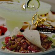 Open Chicken Fajitas & Margaritas Every Wednesday
