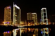 Beirut City at Night with Zingy Ride