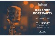 Karaoke Boat Party