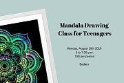 Mandala Drawing Workshop for Teenagers