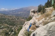 Rappelling and Zip-lining at Akoura with CrossTalk NGO