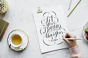 Hand Lettering at Alwan Salma