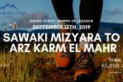 Hiking 12.6 km Sawaki Mizyara to Arz Karm el Mahr with The Hiking Zone Team
