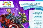 Meet Spiderman, Captain America, Ninja Turtle & Super Girl