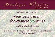 Wine Tasting Event for Lebanese Bio-Wines