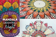 Mandala Drawing Night with Justina at Afkar Creative