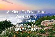 Al Kfour to Fatqa Hike, Wine tasting, Swimming with Golden Feet