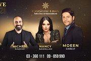 Moeen Shreif, Nancy Nasrallah & Hicham Haddad at Casino Du Liban on New Year Eve 2020