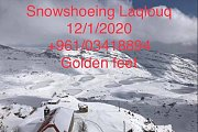 Snowshoeing Laqlouq with Golden Feet